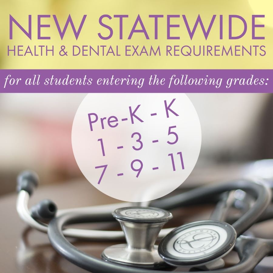 New Health & Dental Exam Requirements for 2018-19 Announced